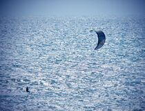 MM00A-1405 TVJ SEA KITE SURF TEL FZ7 Stock Photo
