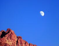 MM27A-1007 GIRO 03 20 ALP ASTRO MOON MNT D3000 55-200 OP royalty free stock images