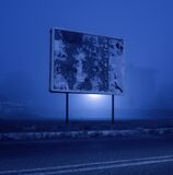 MM64A-1410 ACI AD SIGN BLANK FOG S10 OP royalty free stock image
