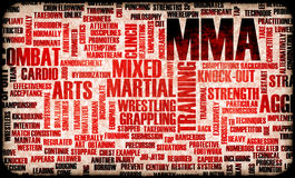 MMA. Mixed Martial Arts Fighting System as Sport Stock Photo