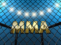 MMA. Fight cage concept , 3d illustration Royalty Free Stock Images