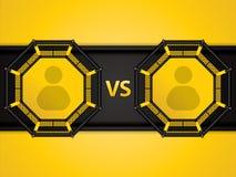 MMA-achthoekkooi vector illustratie