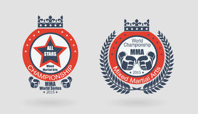 Mma badges Stock Photos
