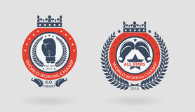 Mma badges Royalty Free Stock Photography