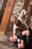 MMA bicia Myśliwski przeciwnik Zdjęcie Royalty Free