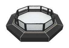 MMA Cage Arena. Isolated on white background. 3D render Royalty Free Stock Images
