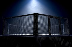 MMA Cage Night royalty free stock photo