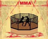 MMA Competitions, Grunge background Royalty Free Stock Images