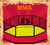 MMA Competitions, Grunge frame Royalty Free Stock Image