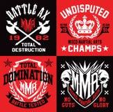 MMA-de grafiek van het stijlembleem Royalty-vrije Stock Afbeeldingen
