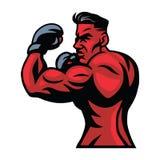MMA-de Vector van de Vechtersmascotte Royalty-vrije Stock Afbeeldingen