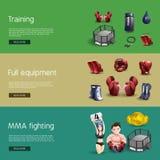Mma die interactieve 3d geplaatste banners bestrijden Royalty-vrije Stock Fotografie