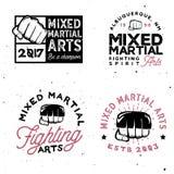 MMA-embleemmalplaatjes in uitstekende stijl Gymnastiek en fintess MMA Stock Foto's