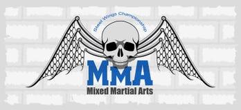 MMA emblem. MMA mixed martial arts emblem royalty free illustration