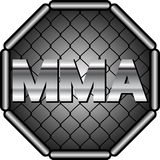 Mma. Emblem  mma sport - vector illustration Royalty Free Stock Image