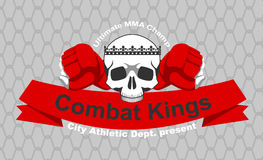 MMA emblem. Vector Mixed martial arts team emblem Royalty Free Stock Photos