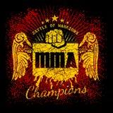 MMA-etiketten op grungeachtergrond Royalty-vrije Stock Fotografie