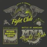 MMA-Etiketten - Vector Gemengd Vechtsportenontwerp Royalty-vrije Stock Afbeeldingen