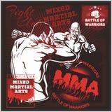 MMA-Etiketten - Vector Gemengd Vechtsportenontwerp Royalty-vrije Stock Foto