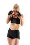 MMA female fighter Royalty Free Stock Image