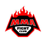 MMA fight club, logo. MMA fight club. Mixed martial arts logo Stock Images