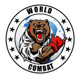 MMA fighter bear. Vector illustration Stock Images