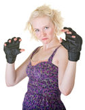 MMA Fighter in Dress Royalty Free Stock Photography