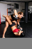 MMA Fighter Girls Stock Images