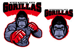 MMA fighter gorilla. Vector of MMA fighter gorilla Stock Photography