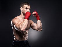 MMA fighter got ready for the fight Royalty Free Stock Image