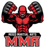 MMA fighter mascot. Vector of MMA fighter mascot Royalty Free Stock Photos
