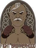 MMA fighter mascot. Vector illustration fight brotherhood Stock Image