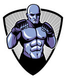 MMA fighter pose. Vector of MMA fighter pose Stock Image