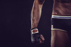 MMA Fighter Preparing Bandages For Training Stock Photography