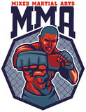 MMA fighter punch. Vector of MMA fighter punch Stock Photography