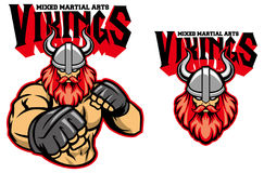 MMA fighter viking. Vector of MMA fighter viking Stock Image