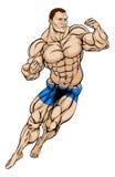 MMA Fighter or Wrestler. An illustration of a muscular strong MMA fighter or wrestler Stock Photography