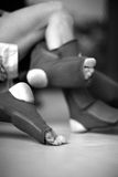 Mma fighters' feet Royalty Free Stock Photo