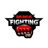 MMA fighting logo. Stock Photos