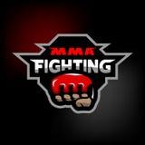 MMA-het vechten embleem Royalty-vrije Stock Afbeelding