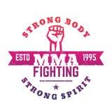 MMA-het Vechten embleem, embleem, t-shirtdruk Stock Foto