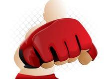 MMA Kämpfer Stockfoto