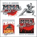 MMA Labels -  Vector Mixed Martial Arts Design. Stock Photography