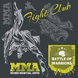 MMA Labels -  Vector Mixed Martial Arts Design Royalty Free Stock Photography