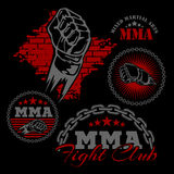MMA mixed martial arts emblem badges Stock Photography