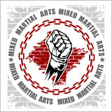 MMA mixed martial arts emblem badges Stock Images