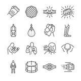 MMA: Mixed Martial Arts icon set. Line Design Icon Illustration: MMA: Mixed Martial Arts Stock Photography
