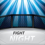 MMA octagon cage. Vector illustration of MMA cage.Mixed martial arts octagon cage, fight night royalty free illustration
