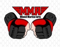 MMA poster Royalty Free Stock Photo