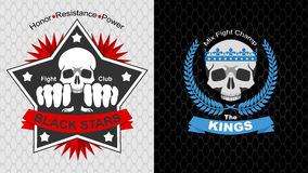 MMA posters. Fight club emblem set in vector Stock Photography